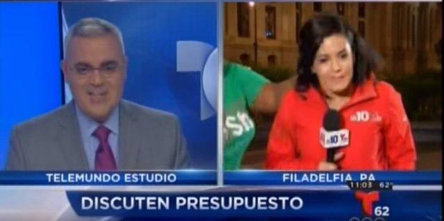 Iris Delgado es atacada durante un directo