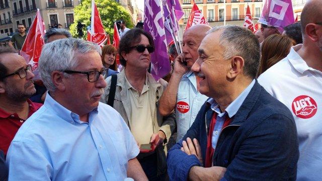 Los líderes de CCOO y UGT, Ignacio Fernández Toxo y Pepe Álvarez
