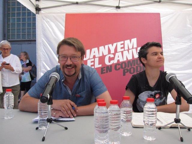 Xavier Domènech, Lucía Martín (EnComúPodem)