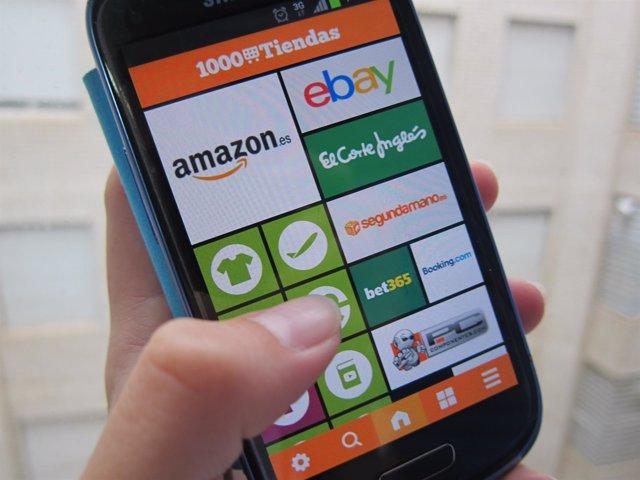 Aplicación Android 1000 tiendas compras online
