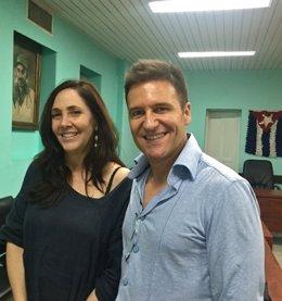 Mariela Castro y Ivan Manero