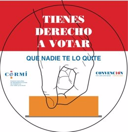 Cartel CERMI 'Tienes derecho a votar'