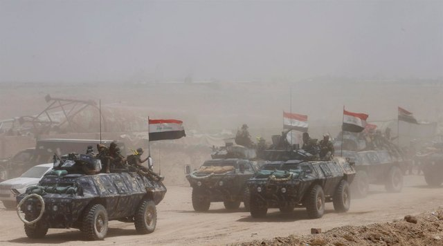Fuerzas iraquíes y milicias chiíes avanzan hacia Faluya