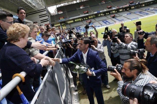 Fernando Hierro llega al Real Oviedo