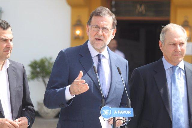 El presidente del Gobierno en funciones, Mariano Rajoy, en Jerez de la Frontera