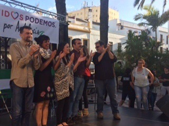 Maíllo y Rodríguez, en un acto en Ayamonte