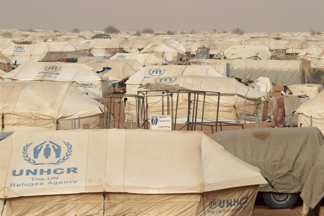 Campamento de refugiados malienses de Mbera, en Mauritania