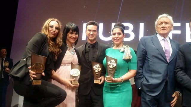 Mónica Naranjo, Irene Villa, Mario Arques, Inmaculada Almeida y Luis del Olmo.