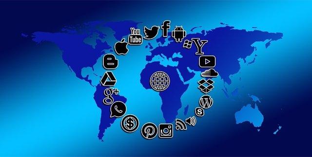 Mapa mundial redes sociales