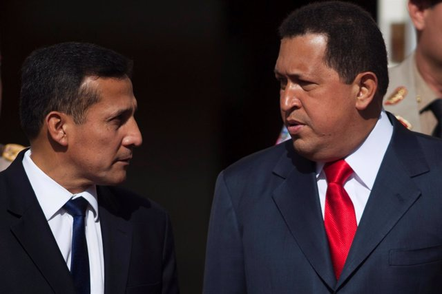 Hugo Chávez con Ollanta Humala