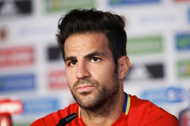 El centrocampista de la selección española Cesc Fábregas