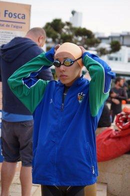 La nadadora española Aida Bertrán