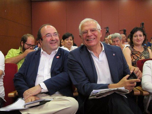 Miquel Iceta (PSC) y Josep Borrell (PSOE)