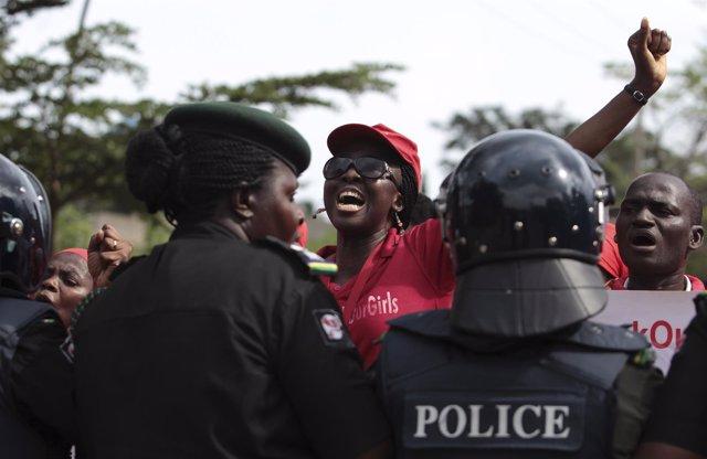 Policías en Nigeria