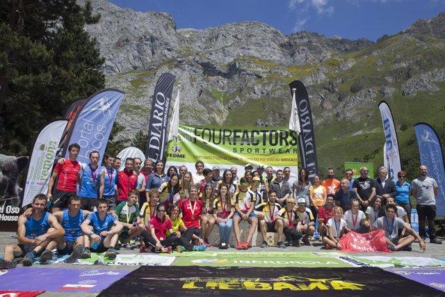 Emtrega de premios del Kilómetro Vertical de Fuente Dé