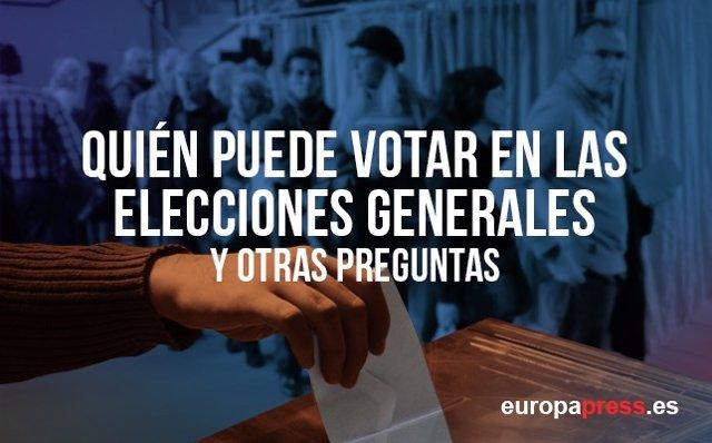 Quién puede votar en las elecciones generales