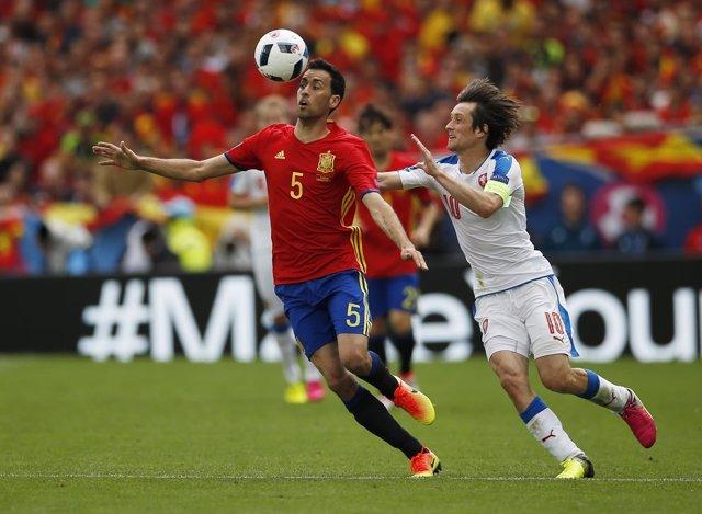 El centrocampista de la selección española Sergio Busquets