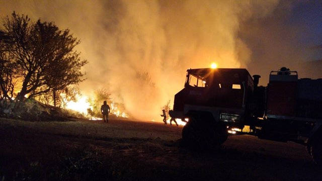 Incendio forestal en Valderredible