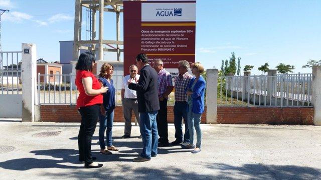 Sumelzo (PSOE) ha visitado este martes Villanueva de Gállego