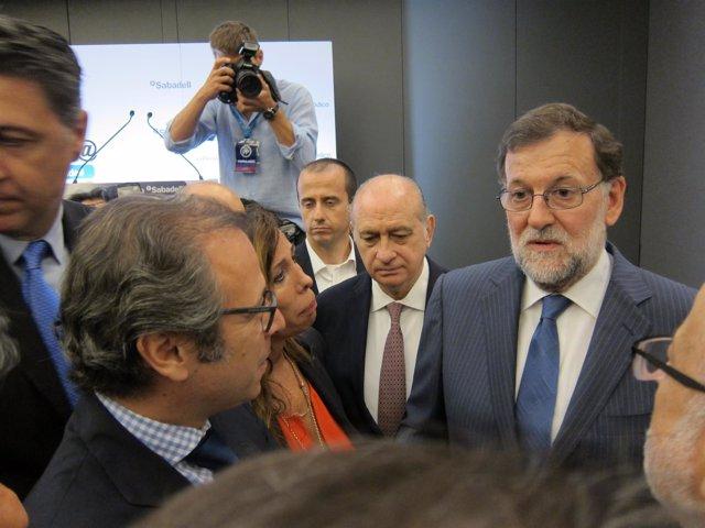 Mariano Rajoy, Alícia Sánchez-Camacho, Jorge Fernández Díaz (PP)