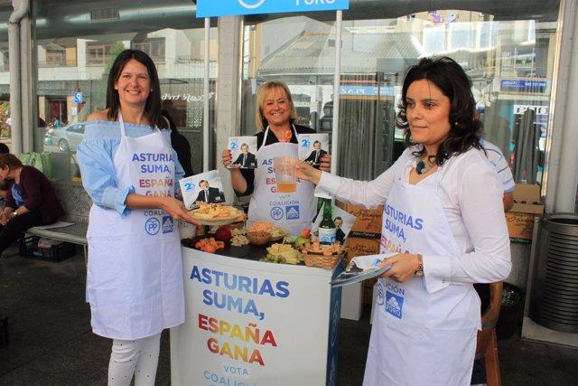 Susana López Ares, Mercedes Fernández y Beatriz Polledo