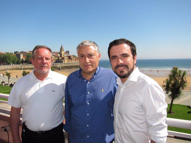Faustino Sabio, Manuel González Orviz y Alberto Garzón