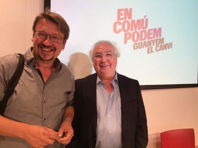 Xavier Domènech (ECP), sociólogo Manuel Castells