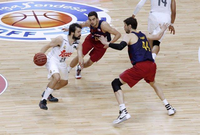 Sergio Llull en el Real Madrid - Barcelona