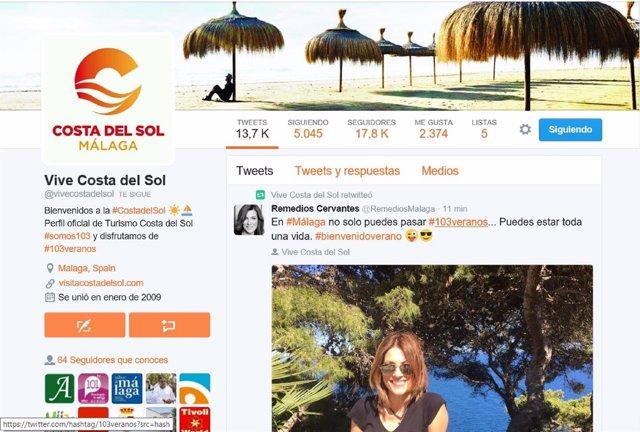 Twitter de Turismo Costa del Sol