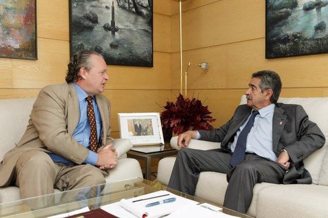 Revilla con el cónsul de Alemania en Bilbao