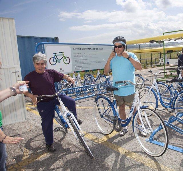 Servicio de préstamo de bicis en Punta Parayas