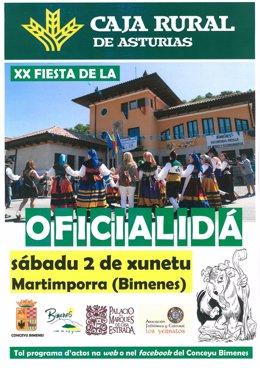 Cartel de la XX Fiesta de la Oficialidá.