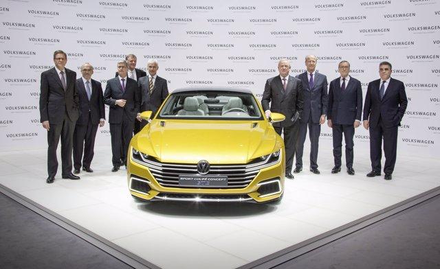 Comité de dirección de Volkswagen en 2015