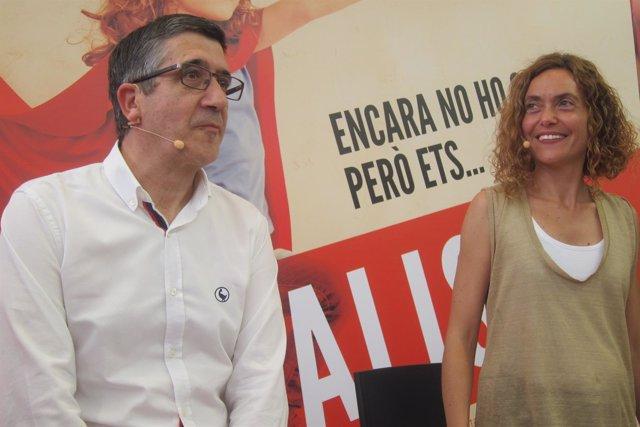 Los socialistas Patxi López y Meritxell Batet