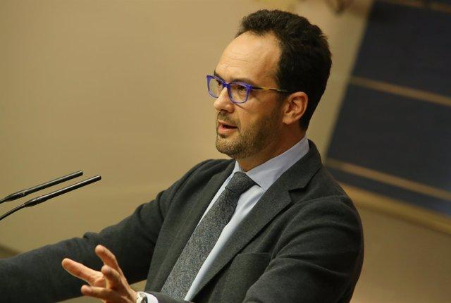 Antonio Hernando, en el Congreso