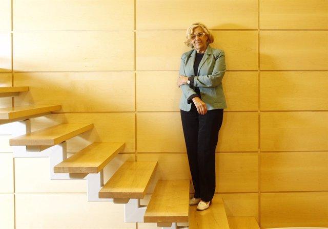 Manuela Carmena durante una entrevista concedida a Europa Press