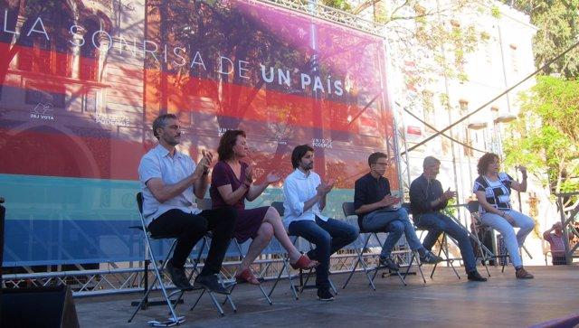 Acto Podemos con Errejón y Julio Rodríguez en Murcia