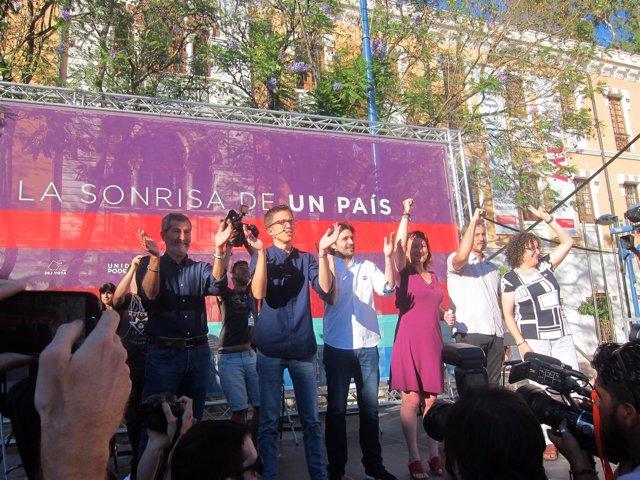 Íñigo Errejón en Murcia con candidatos por Murcia al Cogreso y Senado