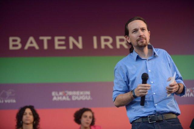 Pablo Iglesias, en un acto en Vitoria