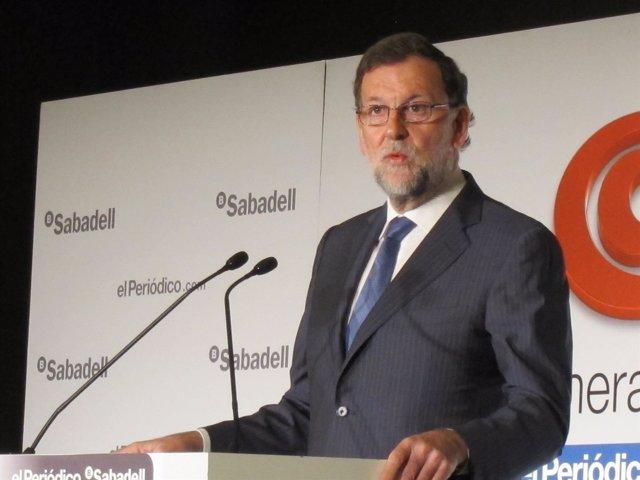 El presidente en funciones y candidato del PP, Mariano Rajoy