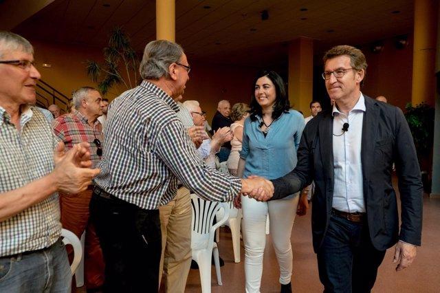 El presidente del PPdeG, Alberto Núñez Feijóo, en Lugo