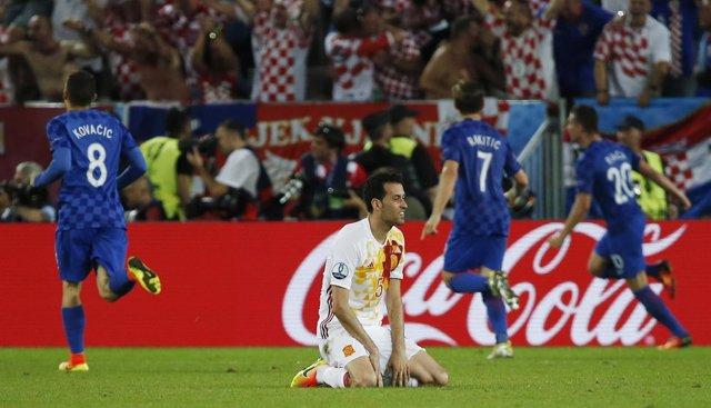 Busquets, abatido tras la derrota con Croacia