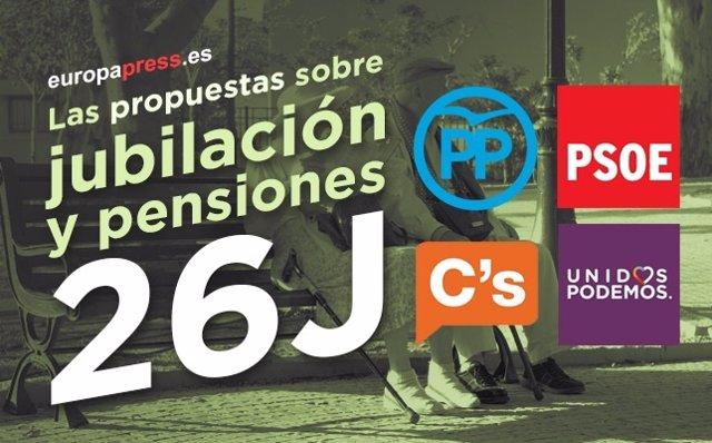 Las propuestas de pensiones y jubilaciones de cada partido para el 26J