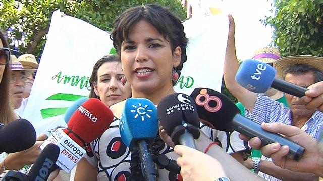 "Teresa Rodríguez se soprende de que el PP ""saque pecho"""