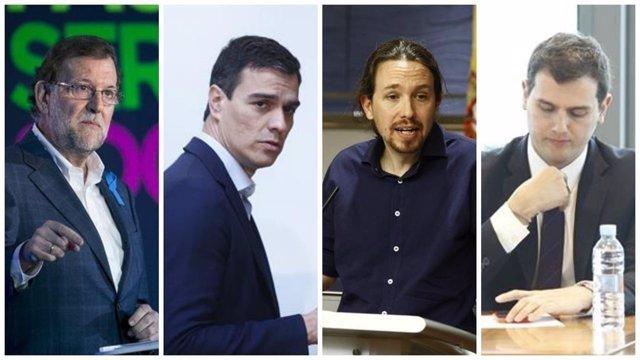 Los cuatro candidatos a la Moncloa el 26J participarán en un debate a 4
