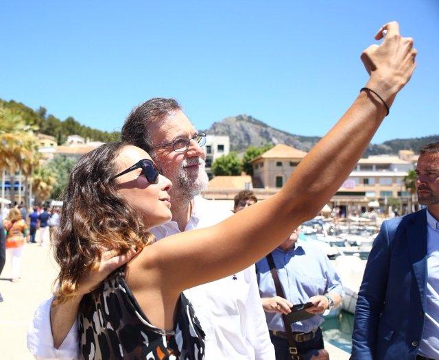 Rajoy en Mallorca duranta la campaña electoral