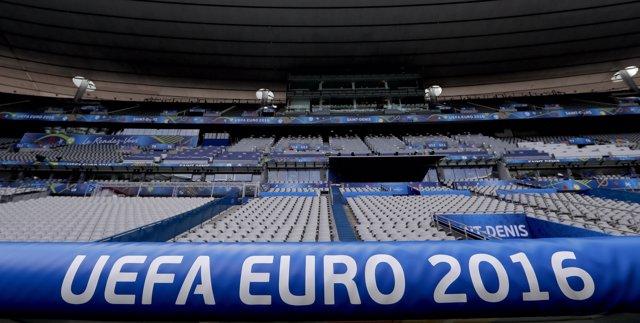 Stade de France en Saint-Denis, preparado para la Eurocopa