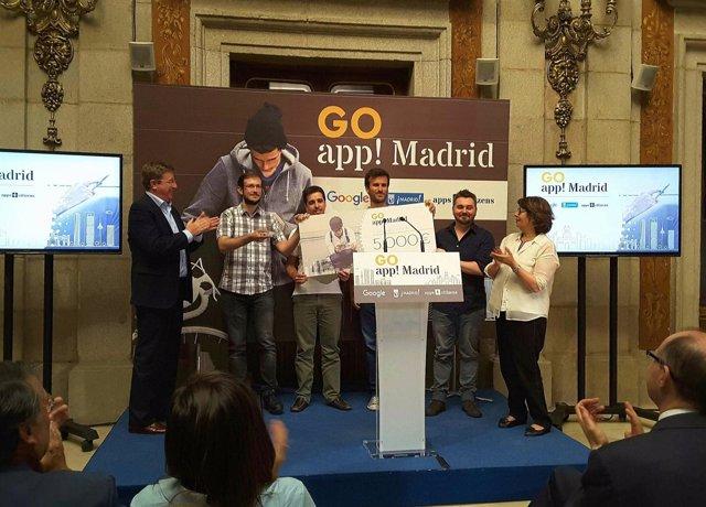 Presentación del ganador del concurso GoApp