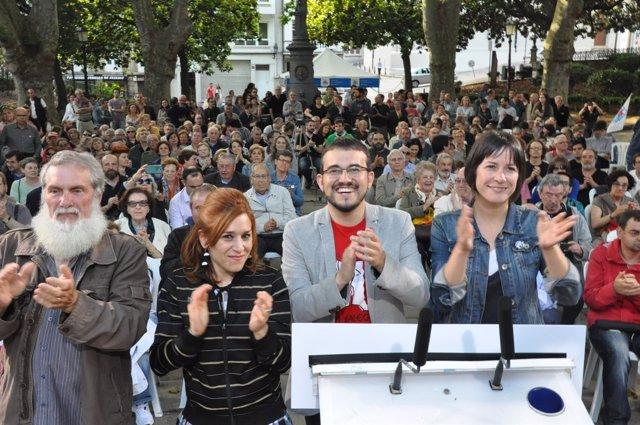 Mitin del BNG en A Coruña