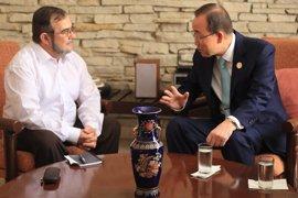 Ban Ki Moon se reúne con el jefe de las FARC antes de la firma del alto el fuego